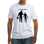 Fencing Dad Fitted T-Shirt