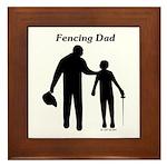 Fencing Dad Framed Tile
