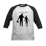 Fencing Dad Kids Baseball Jersey