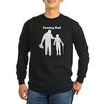 Fencing Dad Long Sleeve Dark T-Shirt