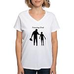 Fencing Dad Women's V-Neck T-Shirt