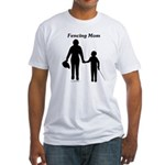 Fencing Mom Fitted T-Shirt