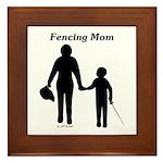 Fencing Mom Framed Tile