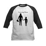 Fencing Mom Kids Baseball Jersey