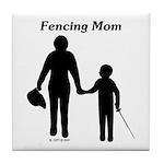 Fencing Mom Tile Coaster