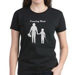 Fencing Mom Women's Dark T-Shirt