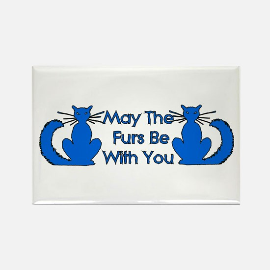Furs Be With You Rectangle Magnet