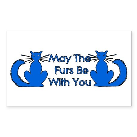 Furs Be With You Rectangle Sticker