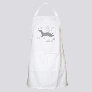 Attention Span of a Ferret on BBQ Apron