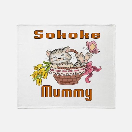 Sokoke Cats Mummy Throw Blanket