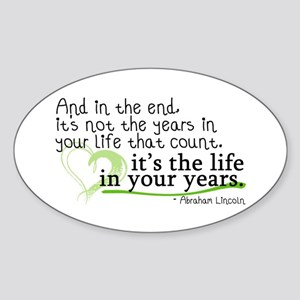 It's the life in your years that count Sticker (Ov