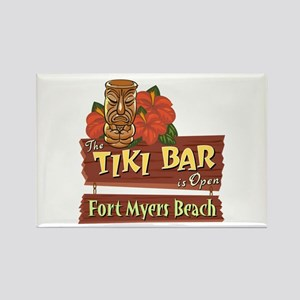 Fort Myers Beach Tiki Bar - Rectangle Magnet
