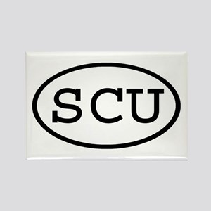 SCU Oval Rectangle Magnet