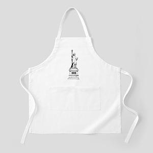 Hand Drawn Statue Of Liberty BBQ Apron