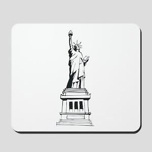 Hand Drawn Statue Of Liberty Mousepad