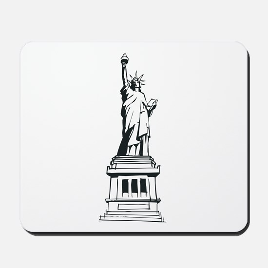Hand Drawn Statue Of Liberty Mousepad