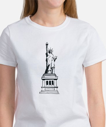 Hand Drawn Statue Of Liberty Women's T-Shirt