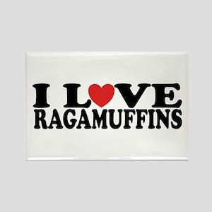 I Love Ragamuffins Rectangle Magnet