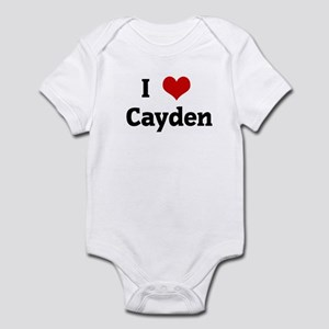 I Love Cayden Infant Bodysuit