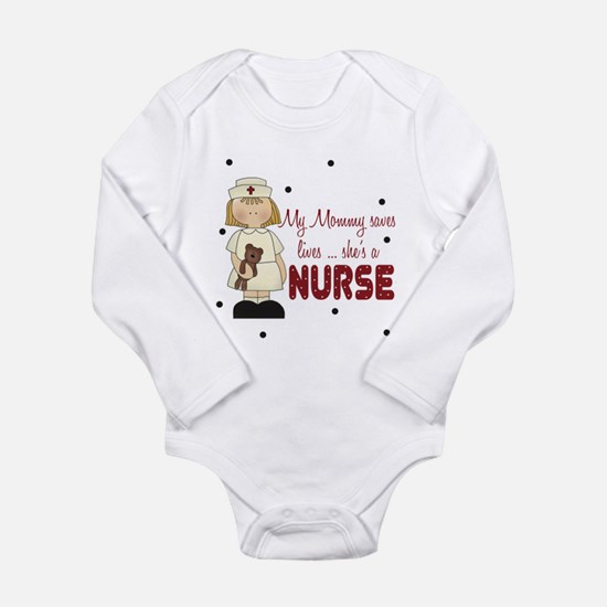 Mommy saves lives NURSE Baby Body Suit