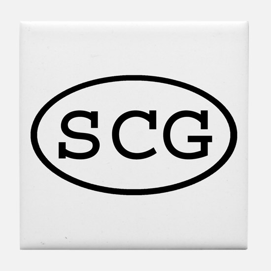 SCG Oval Tile Coaster