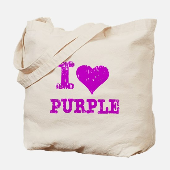 I Love Purple Tote Bag