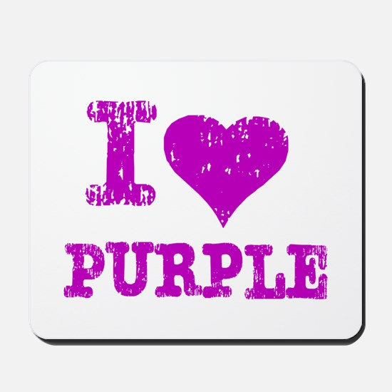 I Love Purple Mousepad