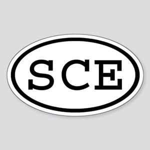 SCE Oval Oval Sticker