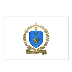 ALARIE Family Crest Postcards (Package of 8)