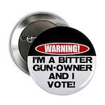 """Bitter Gun Owner 2.25"""" Button (10 pack)"""