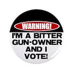 """Bitter Gun Owner 3.5"""" Button (100 pack)"""