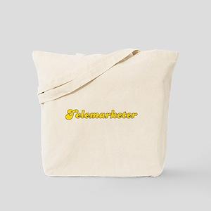 Retro Telemarketer (Gold) Tote Bag