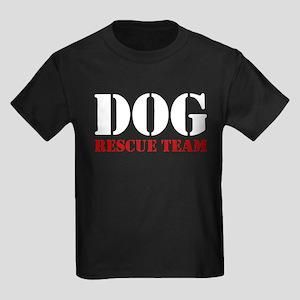 Dog Rescue Team Kids Dark T-Shirt