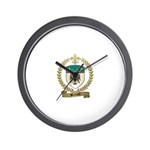 BERTRAND Family Crest Wall Clock
