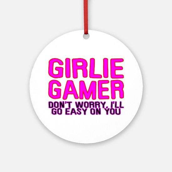 Girlie Gamer Ornament (Round)