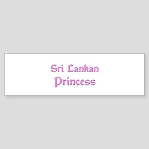 Sri Lankan Princess Bumper Sticker