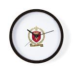 BERNARD Family Crest Wall Clock