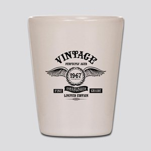 Vintage Perfectly Aged 1967 Shot Glass