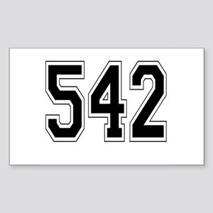 542 Rectangle Sticker