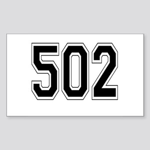 502 Rectangle Sticker