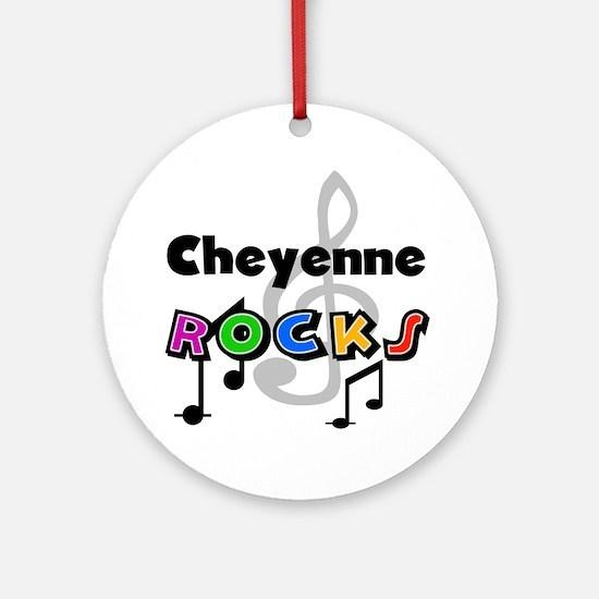 Cheyenne Rocks Ornament (Round)