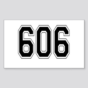 606 Rectangle Sticker