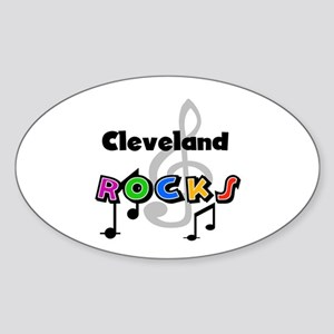 Cleveland Rocks Oval Sticker