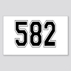 582 Rectangle Sticker