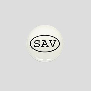 SAV Oval Mini Button