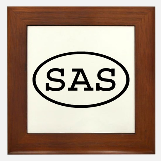 SAS Oval Framed Tile