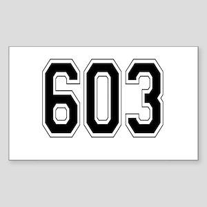 603 Rectangle Sticker