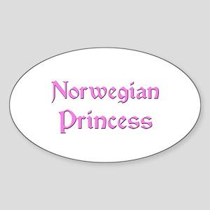 Norwegian Princess Oval Sticker