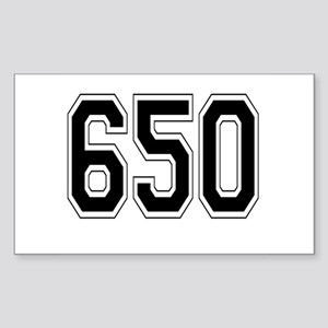 650 Rectangle Sticker