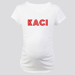 Retro Kaci (Red) Maternity T-Shirt